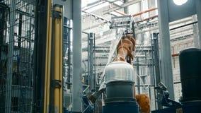 Tillverkning av material för bilindustrin stock video