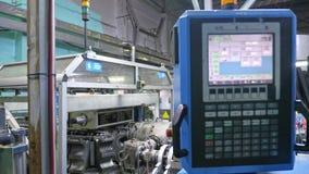 Tillverkning av plast- vattenrör Mitt för elektronisk kontroll för produktionsprocessen Tillverkning av rör till lager videofilmer