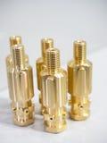 Tillverkning för del för stål för hög precision automatisk vid CNC-machin royaltyfria foton