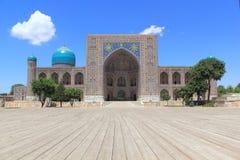 Tillya-Kori Madrasah à Samarkand Images libres de droits