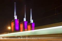 Tilo de la central eléctrica en Hannover Imagenes de archivo