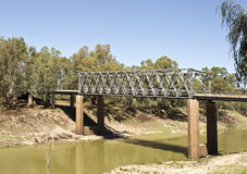Tilpa Darling River Bridge Stock Afbeelding