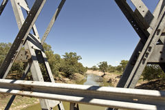 Tilpa Darling River from the Bridge Royalty Free Stock Photos