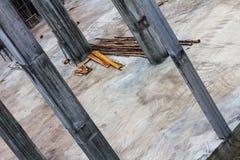 Tilt the construction of concrete columns. Stock Photography