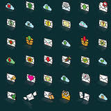 Tilt the envelope icon Royalty Free Stock Images