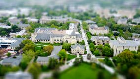 Tilt shift aerial view