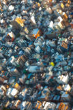 Tilt Shift Aerial View of the Tokyo City, Japan Royalty Free Stock Images