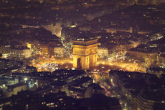 Tilt Shift of the 'Arc de Triomphe' royalty free stock photo