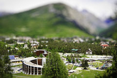 Tilt Shift Bardonecchia - Italy Royalty Free Stock Photo