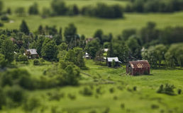 Tilt-shift barn Stock Photo