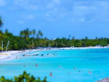Tilt Shift Of Bayahibe Beach Royalty Free Stock Photography