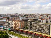 Tilt-shift berlin. View on sbahn royalty free stock photos