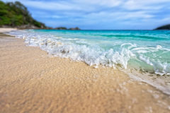 Tilt shift blur beach at Similan National Park, Thailand Royalty Free Stock Image