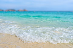 Tilt-Shift blur beach in summer of Thailand Stock Photo