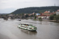 Tilt-Shift Boat Royalty Free Stock Image