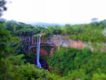 Tilt Shift Of Chamarel Falls Royalty Free Stock Photos