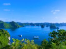 Tilt Shift Of The famous Halong Bay Royalty Free Stock Images