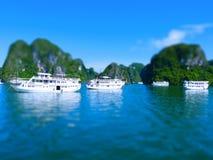 Tilt Shift Of The famous Halong Bay Stock Photo