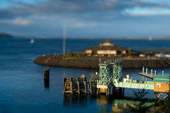 Tilt Shift Ferry Terminal. Ferry terminal in tilt shift Royalty Free Stock Photo