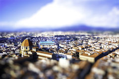 Tilt Shift Florence - Italy Royalty Free Stock Photos