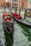 Tilt and shift gondolas Royalty Free Stock Photography