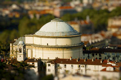 Tilt Shift Gran Madre - Turin Italy Stock Photography