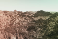 Tilt Shift Landscape Stock Photo