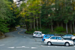 Tilt Shift Parking Royalty Free Stock Image