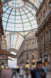 Tilt shift photo of Gallery Vittorio Emanuele II in Milan. Soft Royalty Free Stock Image