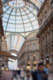 Tilt shift photo of Gallery Vittorio Emanuele II in Milan. Soft Royalty Free Stock Image