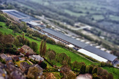 Tilt and shift photo Royalty Free Stock Photo