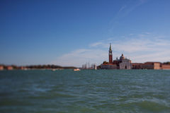 Tilt shift photo of view of Santa Maria Maggiore island. Soft fo Royalty Free Stock Photos