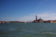 Tilt shift photo of view of Santa Maria Maggiore island. Soft fo. Cus Royalty Free Stock Photos