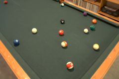Tilt shift pool table Stock Images