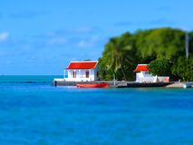 Tilt Shift Of Red Handkerchief Islet Royalty Free Stock Photo