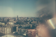 Tilt shift shooting of residential district Stock Photography