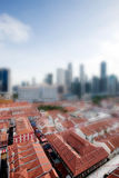 Tilt Shift Singapore Royalty Free Stock Images