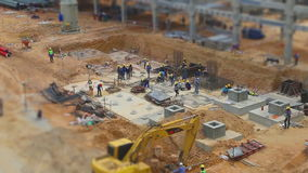 Tilt-shift style of construction working