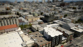 Tilt Shift Time Lapse View of San Francisco stock video footage