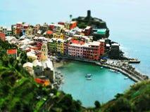 Tilt-shift. Vernazza, Cinque Terre, in tilt-shift Stock Images