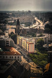 Tilt shift of the Wroclaw city Royalty Free Stock Photo