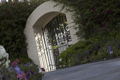Tilt shot of entrance gate of house Royalty Free Stock Photography