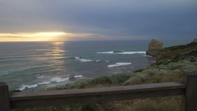 Tilt up move of sunset in Twelve Apostles, Australia stock video