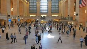 Tilt up shot of the interior of Grand Central Station, NY. A tilt up view of the interior of Grand Central Station in New York stock video footage