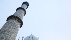 Tilt up shot of the Taj Mahal, Agra, Uttar Pradesh, India stock footage