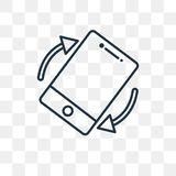 Tilt vector icon isolated on transparent background, linear Tilt vector illustration