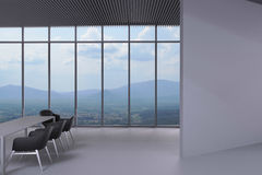 Tilt wall Office and chairs in the meeting room Stock Photo