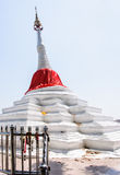 Tilt white pagoda Stock Photo