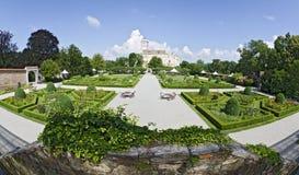 Tilt yard of the renaissance palace Schallaburg Stock Image