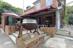 Tiltable industriell ångakruka för Mezzanine i den redtory idérika trädgården, guangzhou, porslin Royaltyfri Fotografi